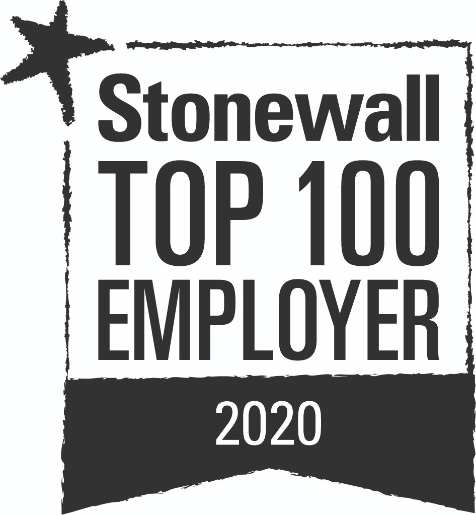 Stonewall Top 100 Employer 2019 award